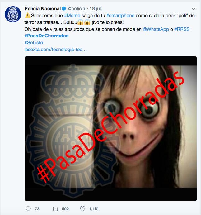Hashtags #PasaDeChorradas y #SeListo